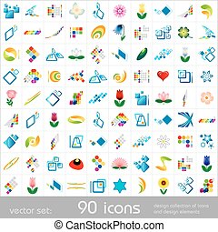 Design elements. Icons set.