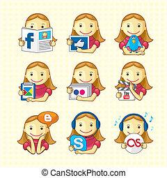Design Elements - Social Icons Set