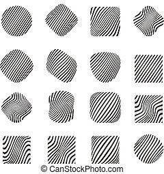 Design elements with zebra pattern.