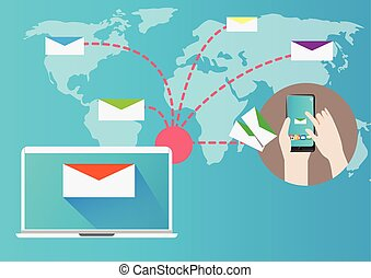 Design Email Marketing Concept