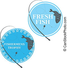 design emblem for fishing