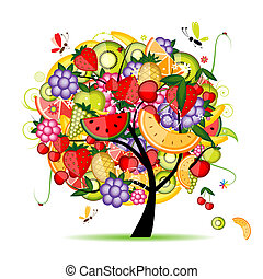design, energi, fruktträd, din