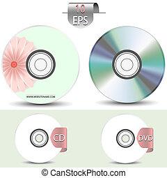 design., ensemble, disques, ton