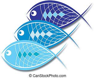 design, für, fischerei, geschaeftswelt