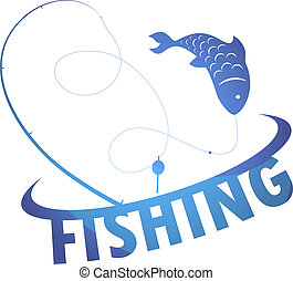 design fishing - Fishing for design vector silhouette of...