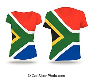 design, flagga, afrika, skjorta, syd