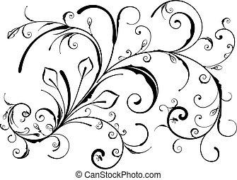 design, floral elemente