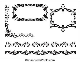 Design floral frames and borders