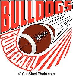 design, football mannschaft, bulldoggen