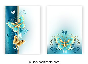 Design for brochure with luxury butterflies