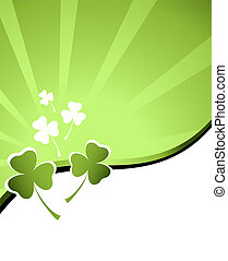 design for St. Patrick's Day - clover background for the St...