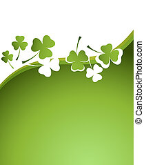 design for St. Patrick\'s Day - clover background for the...