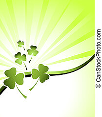 design for St. Patrick's Day - clover background for the St....