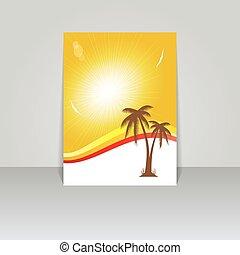 Design for summer  flyer .