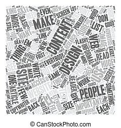 Design for Your Content text background wordcloud concept