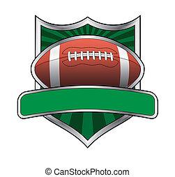 design, fotboll, emblem, skydda