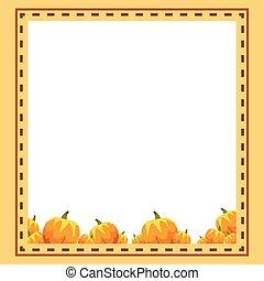 Design frame thankgiving theme collection vector...