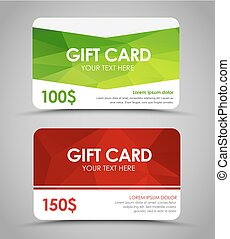 Design gift cards  polygonal