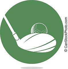 design., golf, logotipo, vettore, club