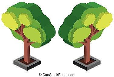 design, grönt träd, 3