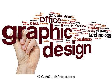 design, grafik, wort, wolke