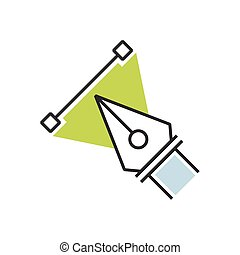 Design Green pen tool icon