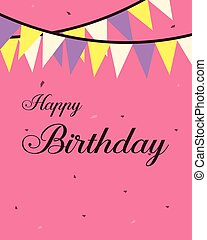 Design greeting card birthday party