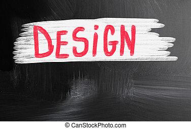 design handwritten with chalk on a blackboard