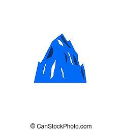 DESIGN HILL, MOUNTAINS ICON BLUE ON WHITE
