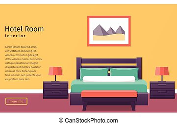 Design hotel room. Vector background.