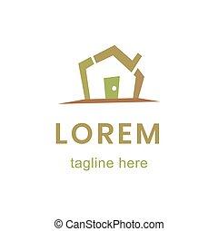 Design house logo, modern concept, home. Vector icon illustration