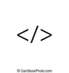 design., icon., code, toile, plat, illustration, vecteur