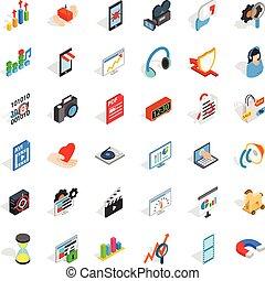 Design icons set, isometric style