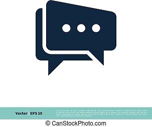 design., illustratie, klesten, mal, vector, toespraak, logo, pictogram, 10., bel, eps