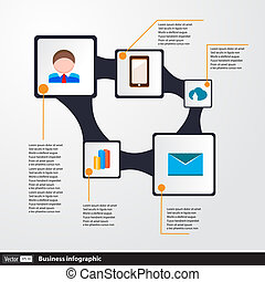 Design infographic concept with icons set of strategy for business