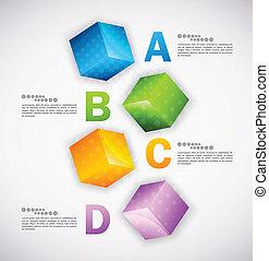 design., infographic, cubos