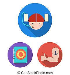 design., interior, álcool, bar, apartamento, jogo, teia, equipamento, estoque, cobrança, alimento, símbolo, ícones, illustration.