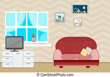design interior furniture in a room