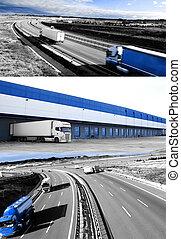 Design international shipment and highway