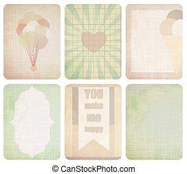 design., journaling, set, kaart, plakboek