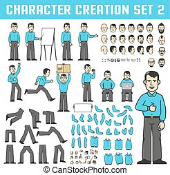 Design kit for creating a character in various poses