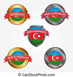 Design label of made in Azerbaijan. Vector illustration