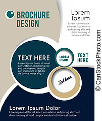 Design layout template - Stylish presentation of business...
