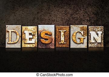Design Letterpress Concept on Dark Background
