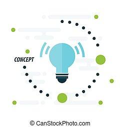design light concept  blue