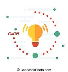 design light concept  yellow