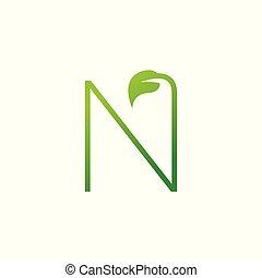 design, logo, blatt, n, elemente, brief