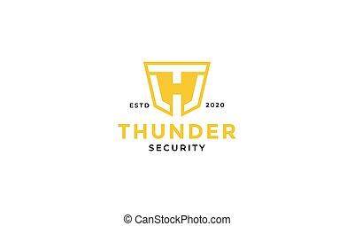 design, logo, initial, brev, th, ht, eller, skydda, säkerhet