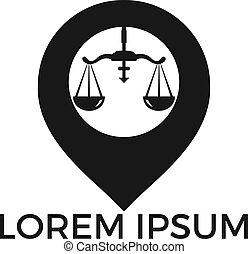 design., mapa, waga, wskazówka, logo