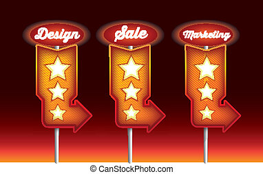 design, marketing and sales promotional symbol or sign